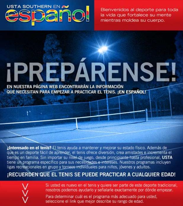 Information about Tennis in Spanish